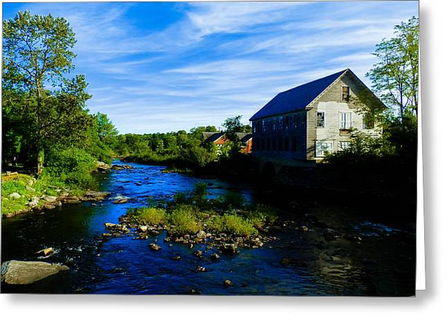 A Sebec View Greeting Card by Heather Sylvia