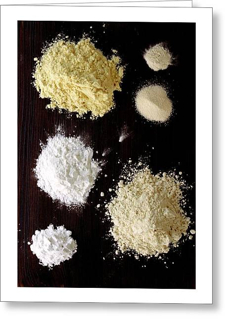 A Selection Of Gluten Free Flours Greeting Card