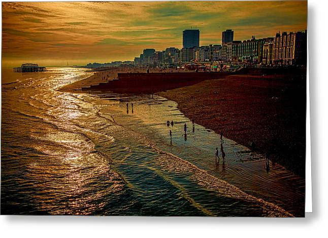 Greeting Card featuring the photograph A September Evening In Brighton by Chris Lord