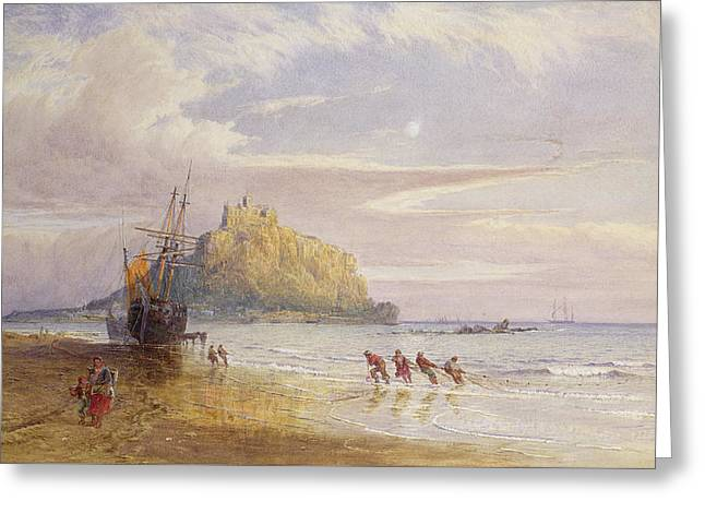 A September Evening, St Michaels Mount, Cornwall Greeting Card