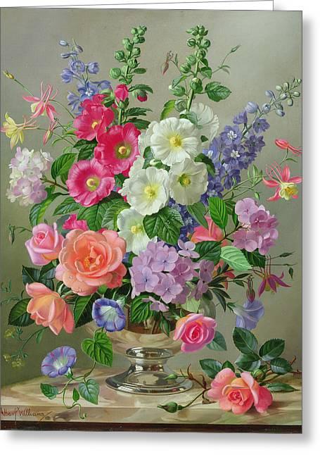 A September Floral Arrangement Greeting Card