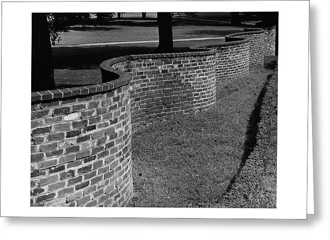 A Serpentine Brick Wall Greeting Card