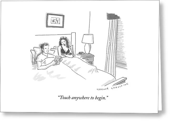 A Sexually Frustrated Wife In Bed Speaks Greeting Card