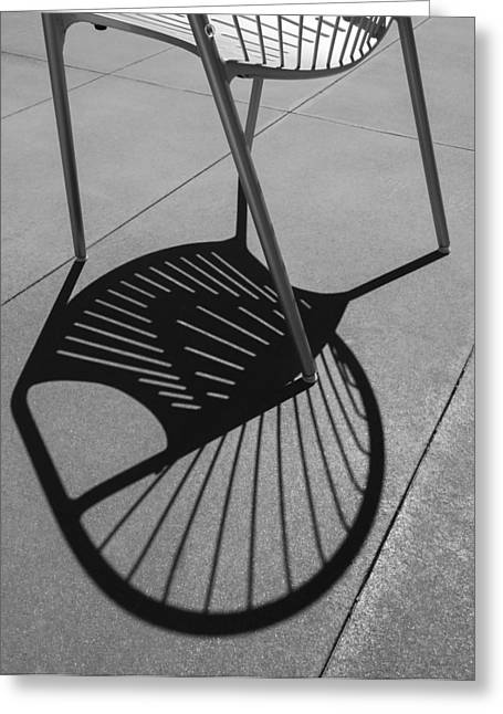Greeting Card featuring the photograph A Shadow Cast - Abstract by Steven Milner