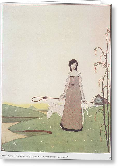 A Shepherdess Greeting Card by British Library