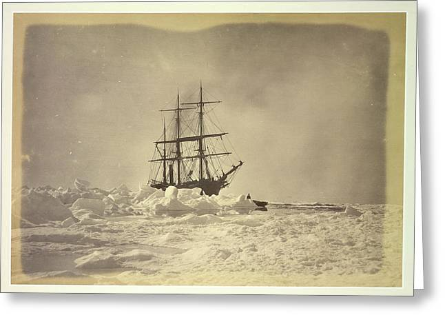 A Ship In The Ice Greeting Card by British Library