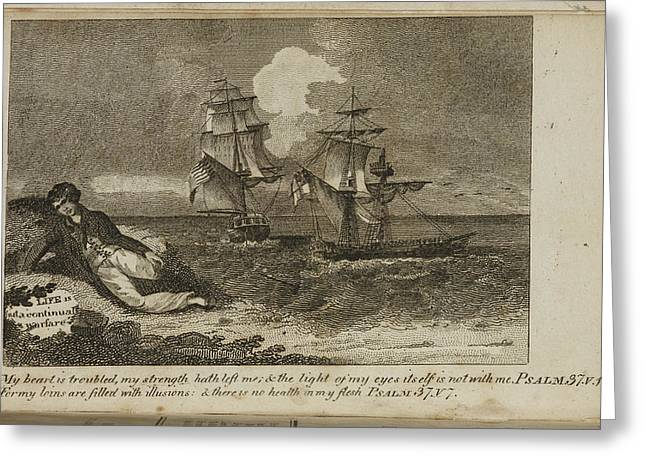 A Shipwreck Scene Greeting Card by British Library