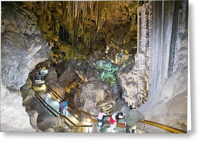A Show Cave At Nerja Greeting Card