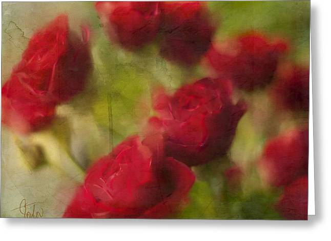 A Shower Of Roses Greeting Card by Colleen Taylor