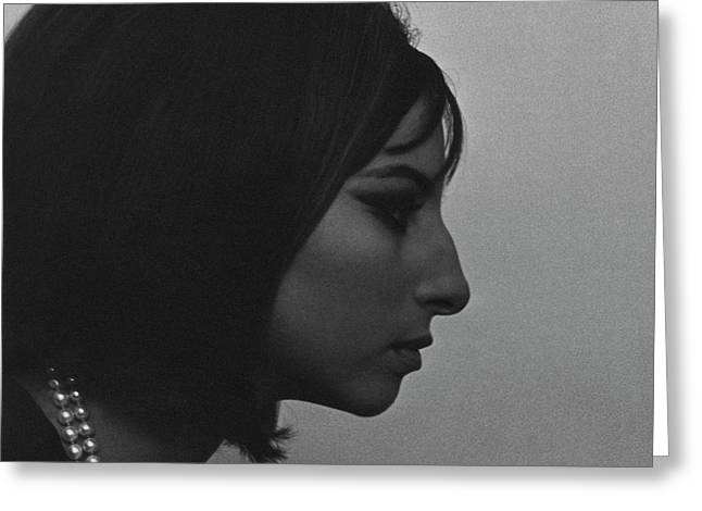 A Side View Of Barbra Streisand Greeting Card by Cecil Beaton
