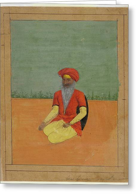 A Sikh Kneeling Greeting Card