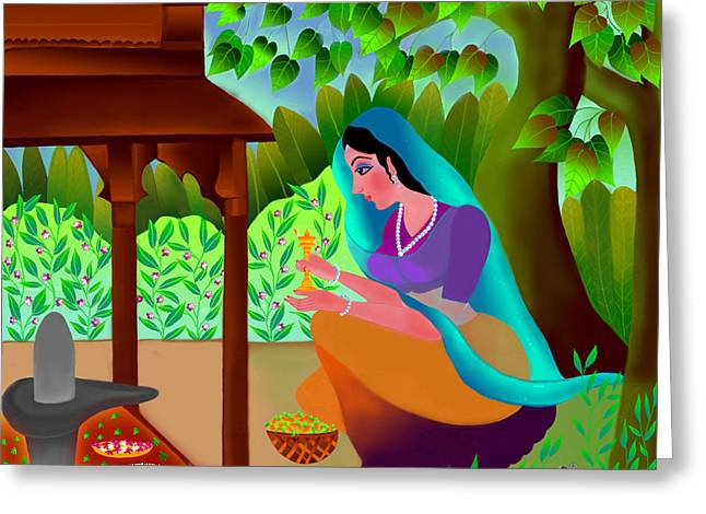 A Silent Prayer In Solitude Greeting Card by Latha Gokuldas Panicker