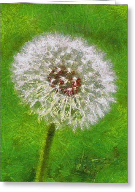 Greeting Card featuring the painting A Simple Beauty by Joe Misrasi