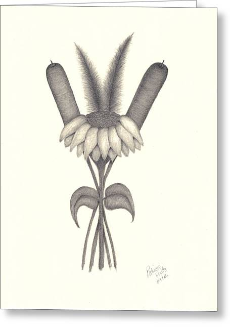 A Simple Bouquet Greeting Card by Patricia Hiltz