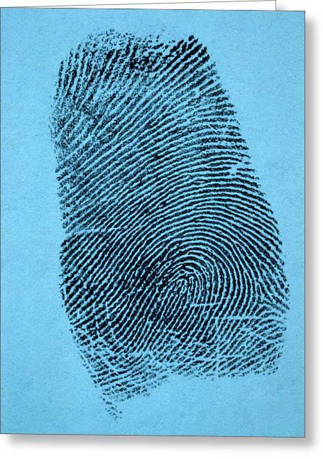 A Single Fingerprint Greeting Card