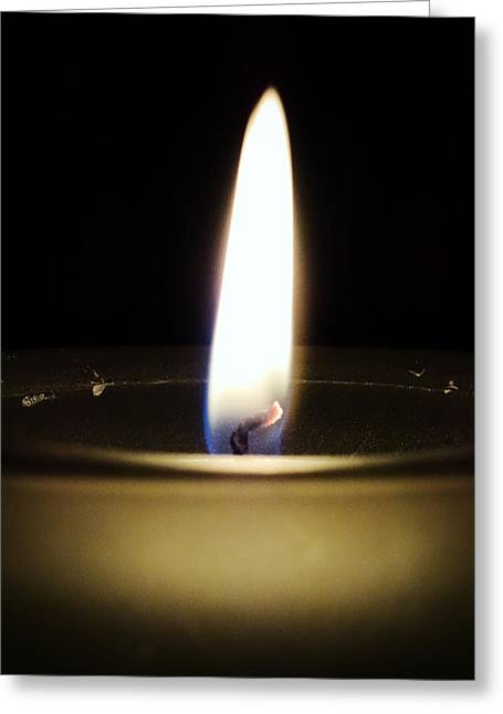 A Single Flame Greeting Card by Zinvolle Art