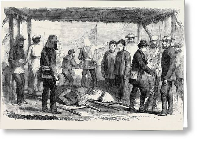 A Sketch At The Landing Place Canton After The Fight Greeting Card