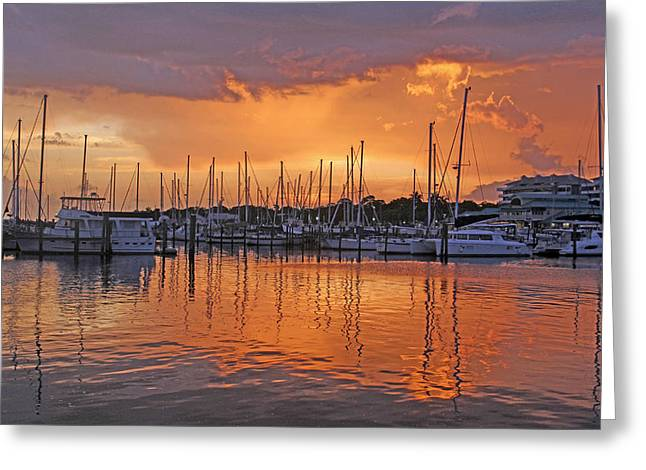 A Sky Full Of Wonder - Florida Sunset Greeting Card by HH Photography of Florida