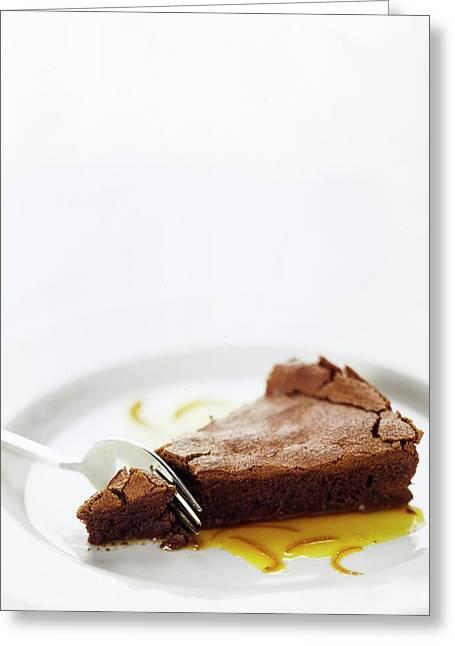 A Slice Of Chocolate Cake Greeting Card