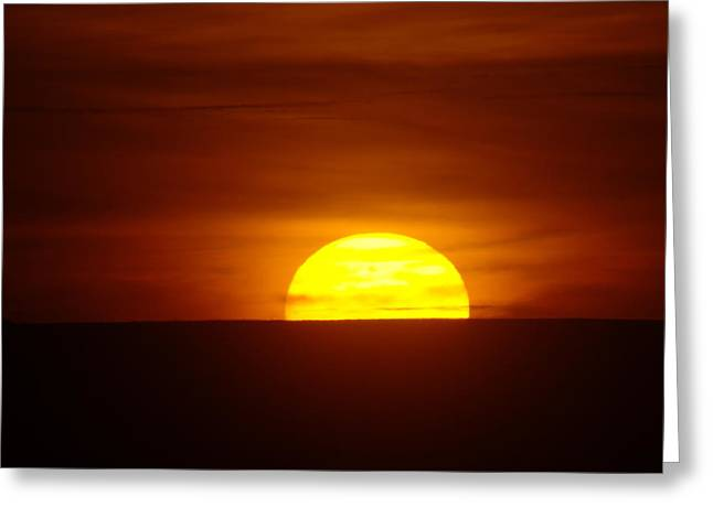 A Slow Sunset Greeting Card by Jeff Swan