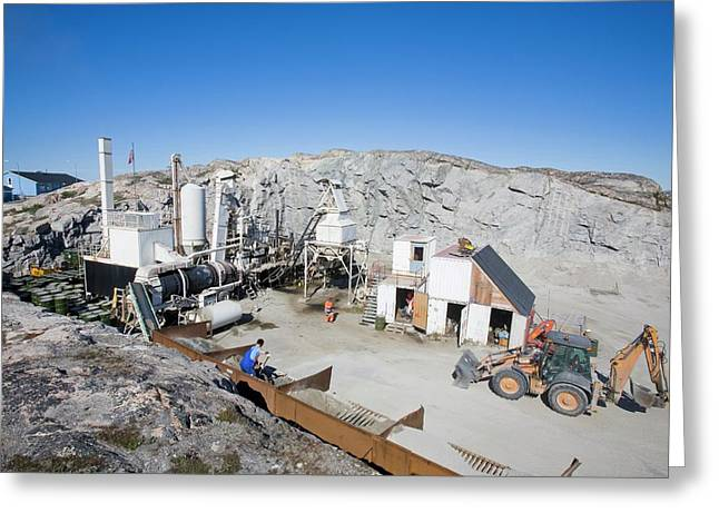 A Small Scale Quarry In (no Suggestions) Greeting Card by Ashley Cooper