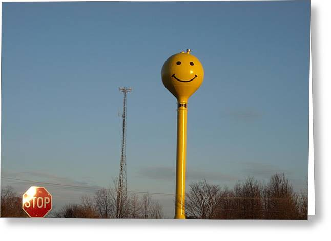 A Smile At The Crossroads. Greeting Card