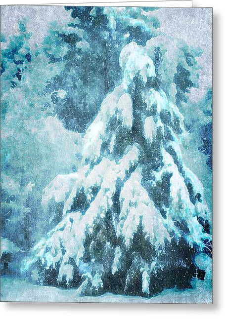 A Snow Tree Greeting Card