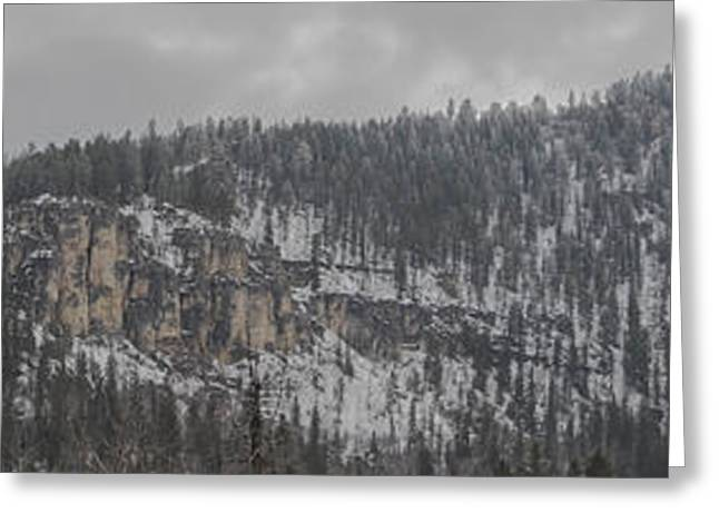 A Snowy Day In Spearfish Canyon Of South Dakota Greeting Card