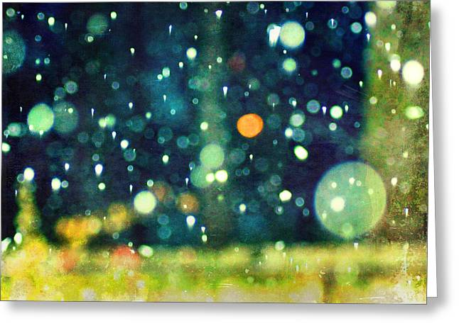 A Snowy Night Greeting Card by Suzanne Barber