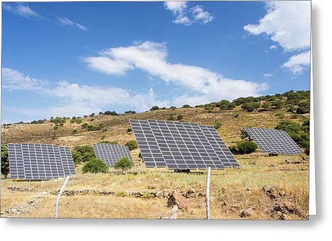 A Solar Power Station On Lesvo Greeting Card