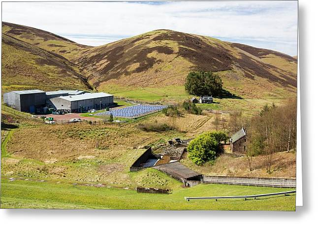 A Solar Powered Water Treatment Plant Greeting Card by Ashley Cooper