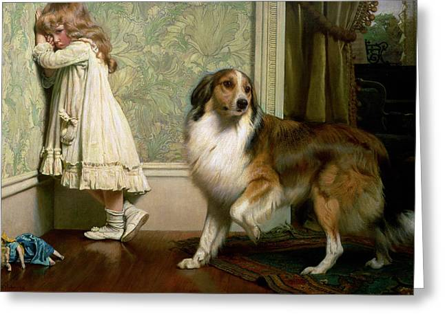 A Special Pleader Greeting Card by Charles Burton Barber