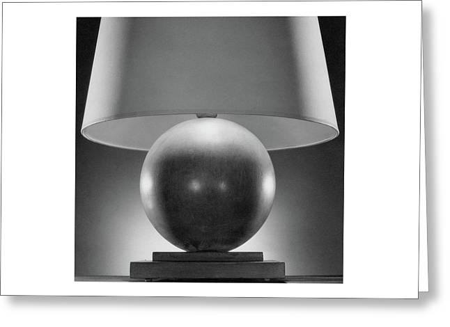 A Spherical Lamp By Joseph Mullen Greeting Card