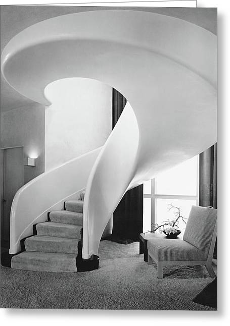 A Spiral Staircase Greeting Card by  Hedrich-Blessing