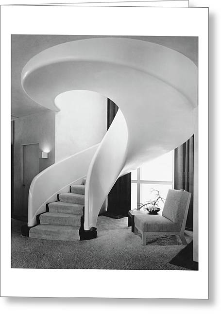 A Spiral Staircase Greeting Card