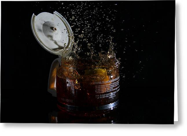 A Splash Of Coffee Greeting Card by Randy Turnbow