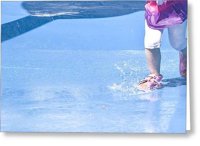 A Splishin' And A Splashin'  Greeting Card by Theresa Tahara