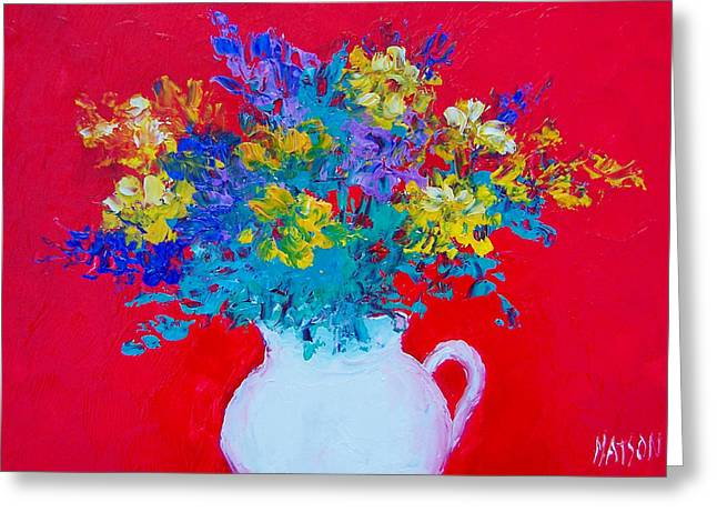 A Spring Bunch Greeting Card by Jan Matson