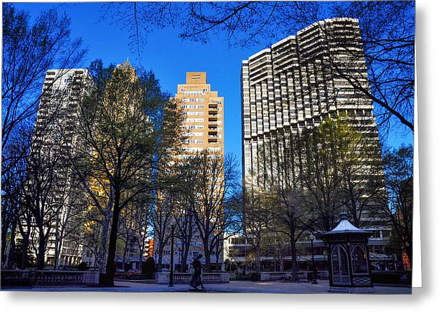 A Spring Day At Rittenhouse Square Greeting Card by Bill Cannon