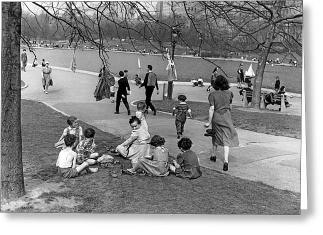 A Spring Day In Central Park Greeting Card
