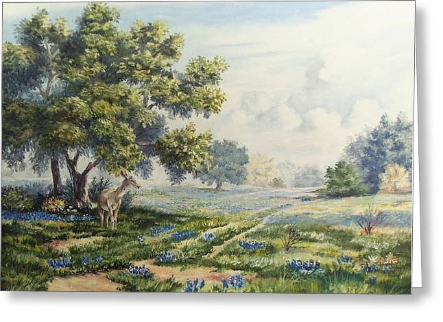 A Spring Morning In Texas Greeting Card