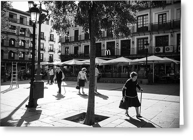 A Square In Toledo - Spain Greeting Card by Madeline Ellis