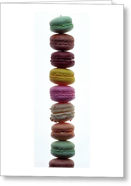A Stack Of Macaroons Greeting Card
