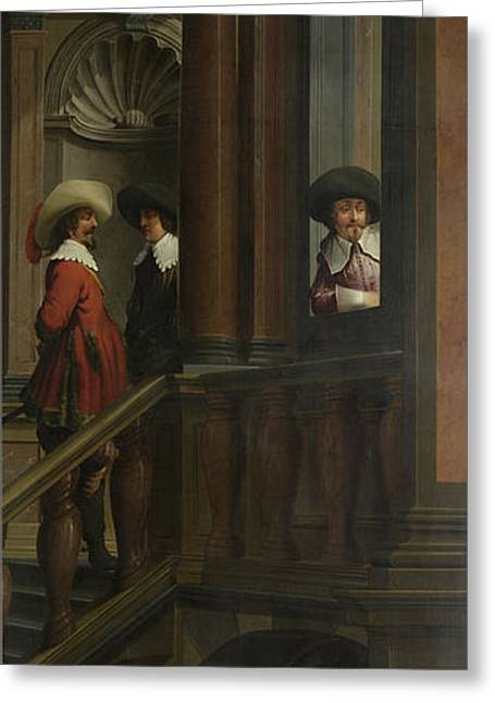 A Staircase, Right Side Of The Depiction Greeting Card by Litz Collection