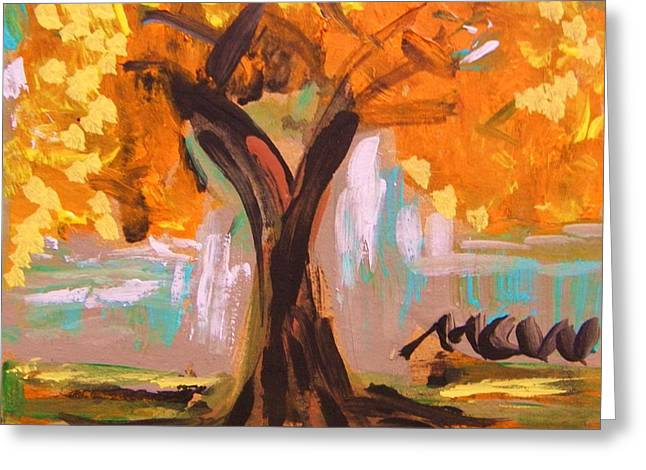 A Standout Tree Greeting Card by Mary Carol Williams