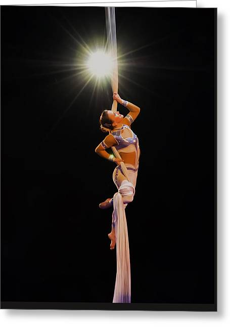 a Star is born - the gymnast Greeting Card by Chris Flees