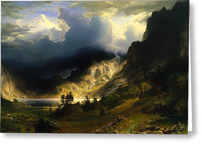 A Storm In The Rocky Mountains Greeting Card by Mountain Dreams