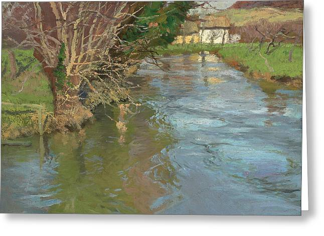 A Stream In Spring Greeting Card by Fritz Thaulow