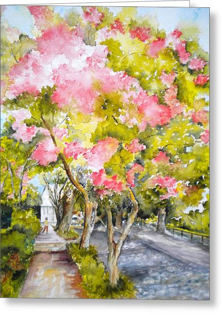 A Street In Charleston Greeting Card