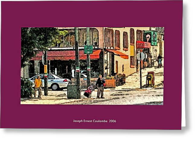 A Street In Frisco 2006 Greeting Card by Joseph Coulombe